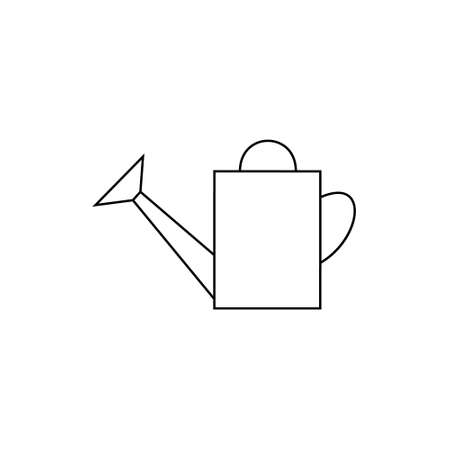 watering pot: outline icon watering-can. watering can to water plants. garden tools watering-pot. watering can illustration. watering pot