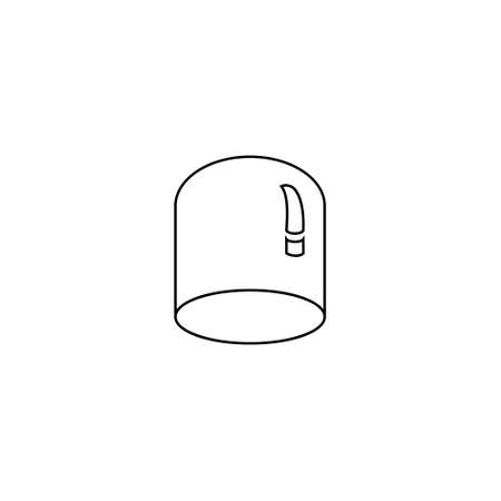 glass dome: Glass dome for plants of outline style. Greenhouse cover plants icon illustration.