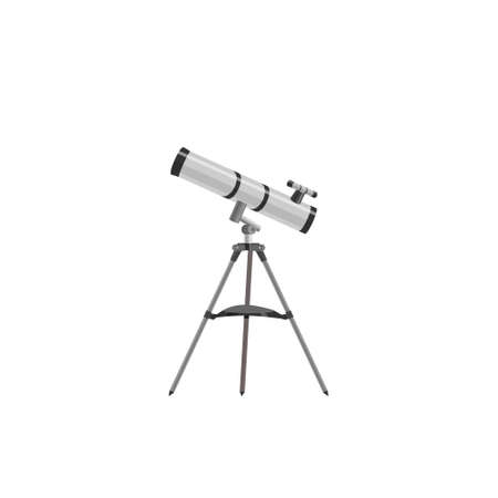Science Icon. Image Telescope Astronom, flat style. Model telescope of cartoon style. Vector Illustration