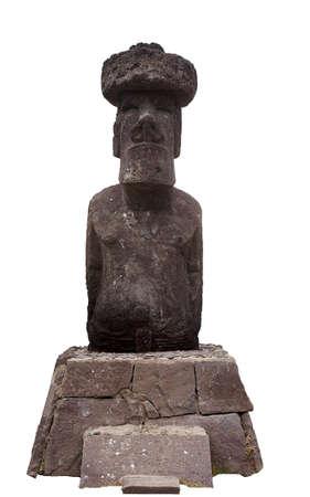 Tribal mythical Eastern Island Moai photo