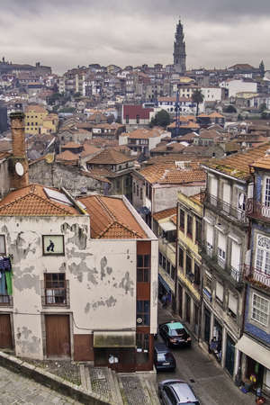 oporto: Oporto, December 2012  Downtown general view Stock Photo