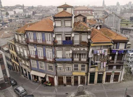 oporto: Oporto, December 2012  Resident houses on downtown