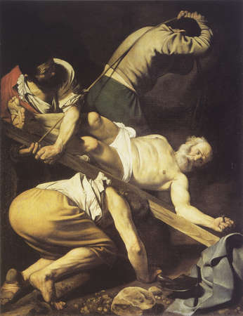 martyrdom: Martyrdom of Saint Peter, work of Caravaggio in 1601
