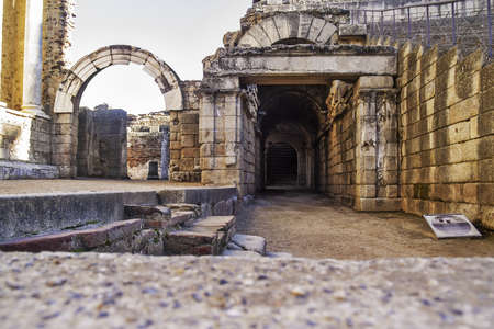oman Theater ruins in Merida, capital of Extremadura region in Spain   photo
