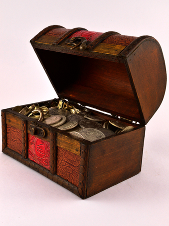 Treasure Chest With Silver coins 3 photo