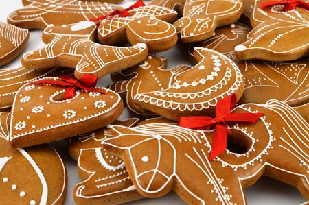 gingerbread cookies: Gingerbread cookies  Stock Photo