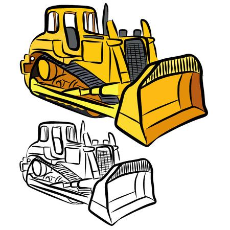 dredge to dig: Bulldozer