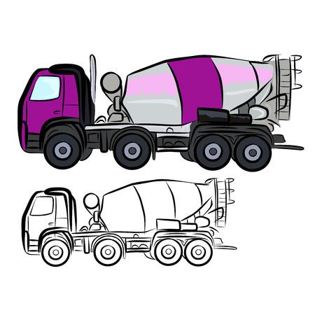 Camión mezclador de concreto Ilustración de vector