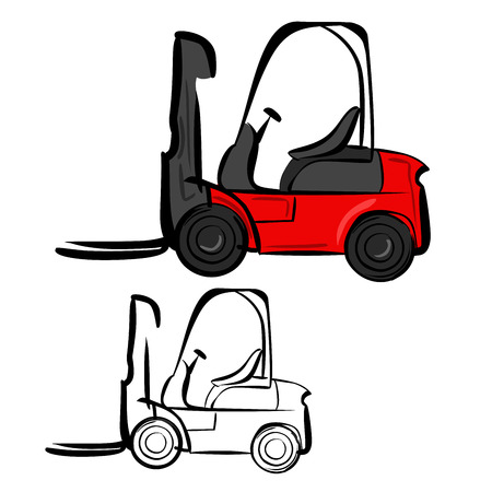 Forklifts Illustration