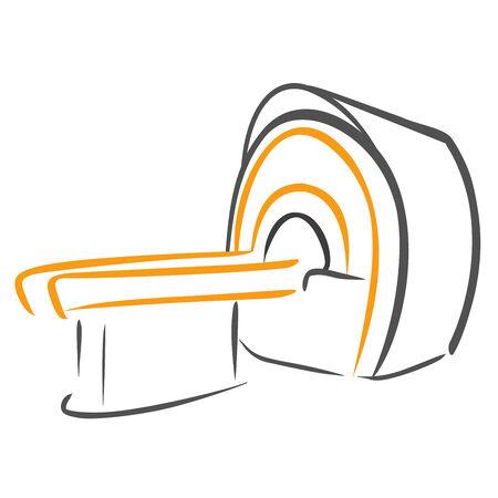 medical scanner: CT Scanner sketch Illustration