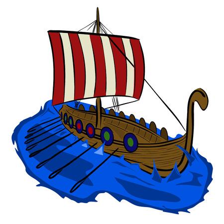 germanic: Viking boat
