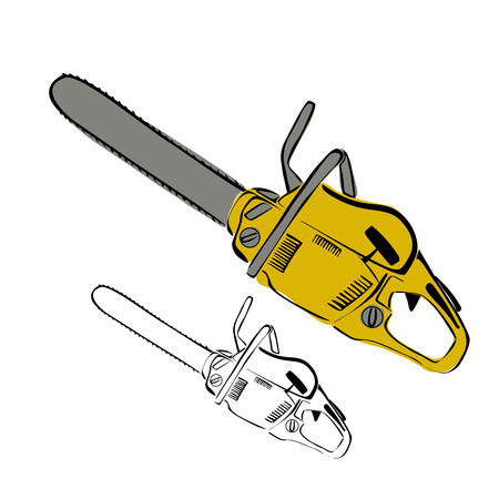 chain saw: Chain saw  Illustration