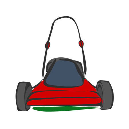 push mower: Lawn mower sketch
