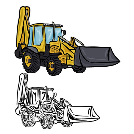 2 654 backhoe cliparts stock vector and royalty free backhoe rh 123rf com backhoe clipart free backhoe clipart black and white
