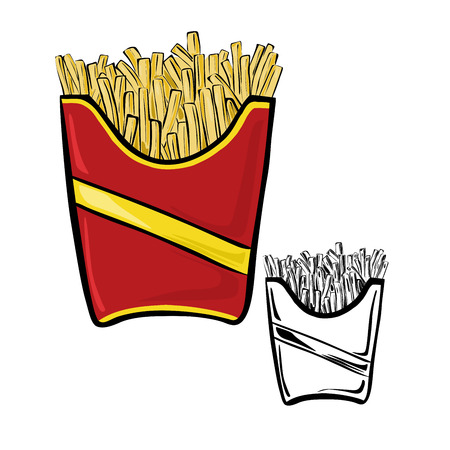frites: Fries pack