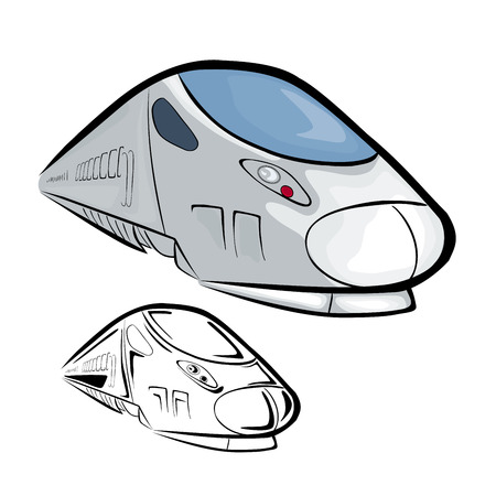 High Speed Train 2 Vector