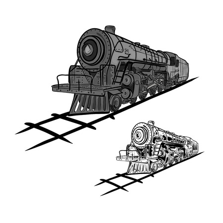 loco: Steam locomotives Illustration