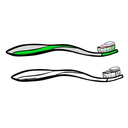 fluoride toothpaste: Toothbrush Illustration