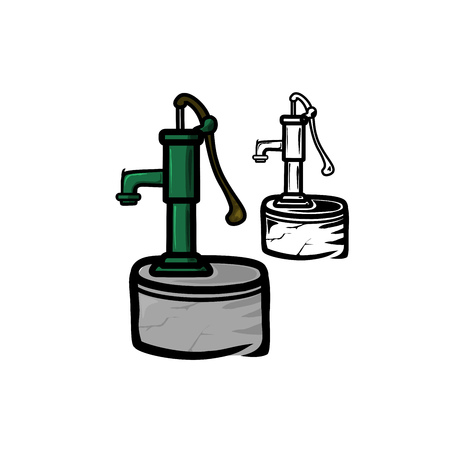 freehand tradition: Water Pump