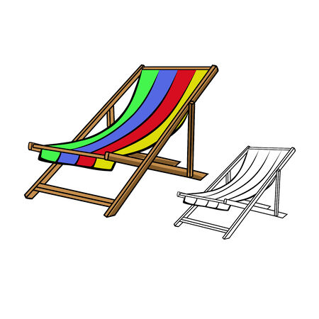 outspread: Beach chair