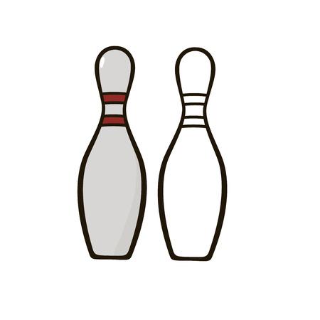 skittles: Bowling skittles Illustration