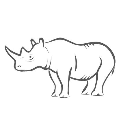 african grey: Rhinoceros