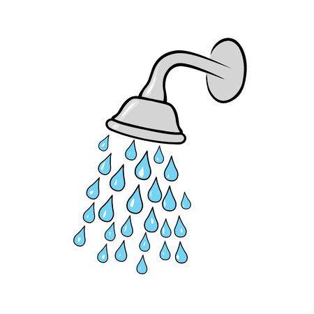 bathroom sign: Shower head Illustration