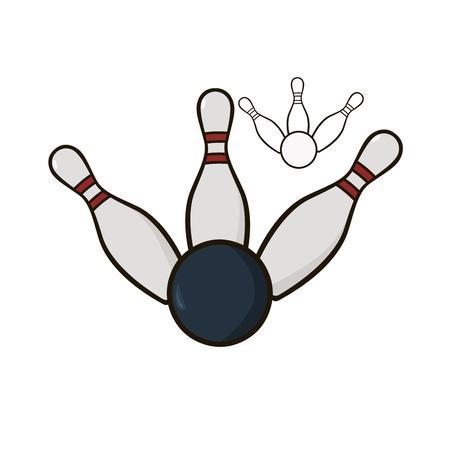quilles: Skittles et boule