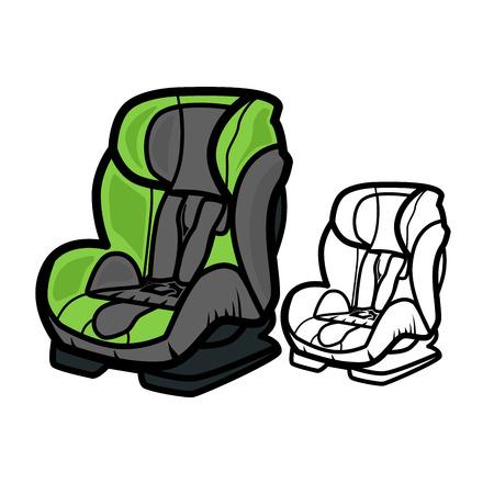 passenger compartment: Car Seat Illustration