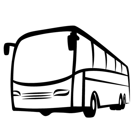 tours: Bus symbol Illustration