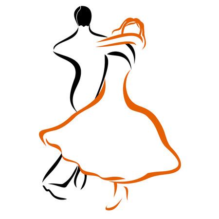 bocetos de personas: Pares del baile 1