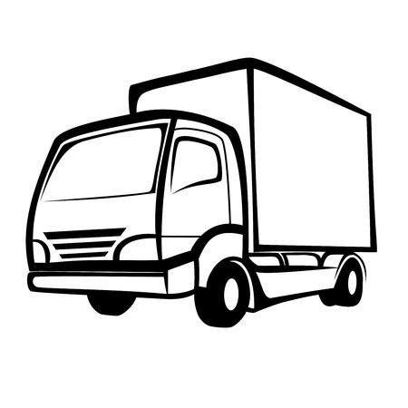 配達用トラック  イラスト・ベクター素材