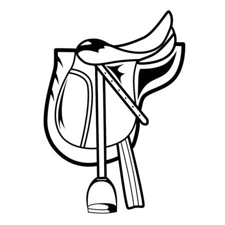 horse saddle: Horse Saddle Vettoriali