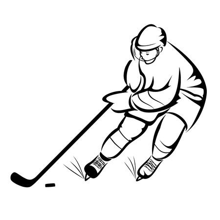 ice hockey player: Ice hockey player Illustration