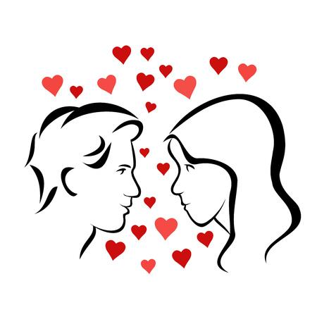 Loving couple Çizim