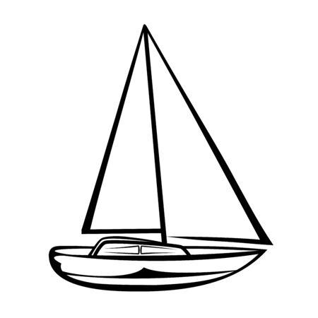 Sailing boat Ilustração