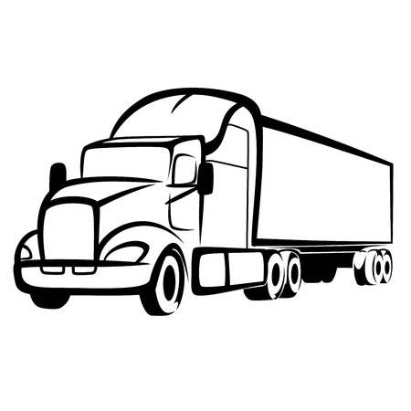 ciężarówka: Symbol Ciężarówka Ilustracja