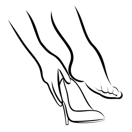 high heeled: The Woman puts shoes 2 Illustration
