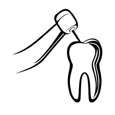 dentist drill: Dentist drill Illustration