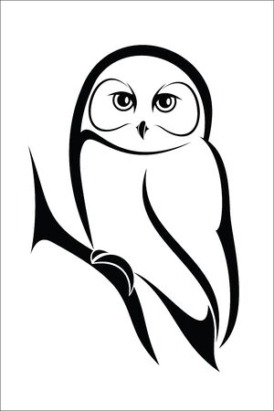 looking away: Owl  Illustration