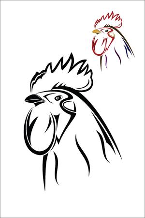 henhouse: Rooster Illustration