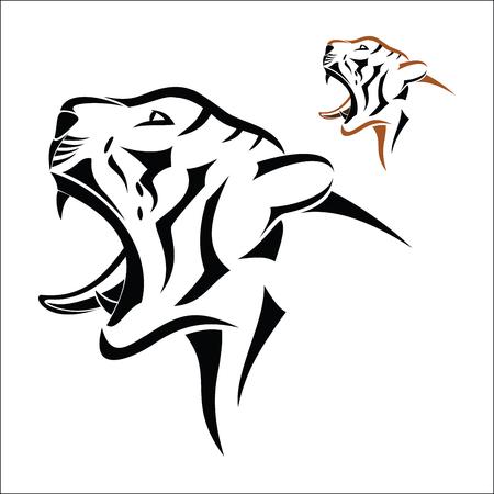 tigresa: Símbolo de la cabeza del tigre