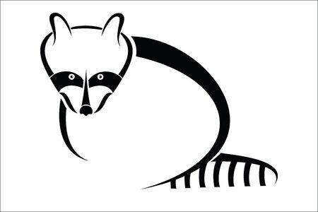 raccoon: Raccoon symbol Illustration
