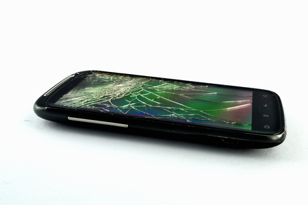 Mobile phone with broken display