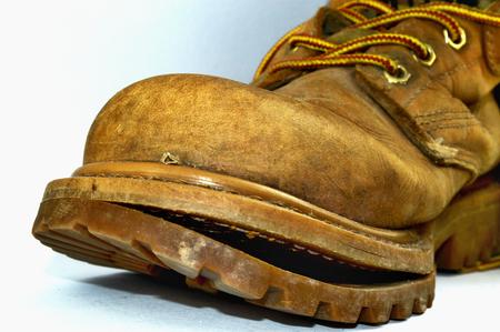 Old broken shoe