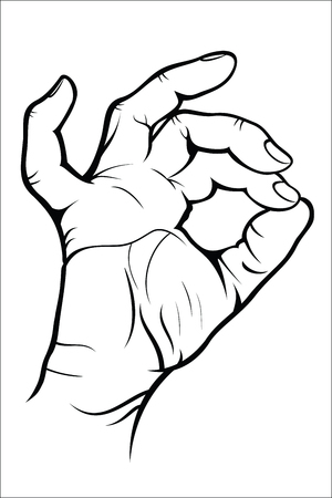 alright: Hand gesture  Okay Illustration
