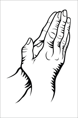 prayer hands: Hand praying Illustration