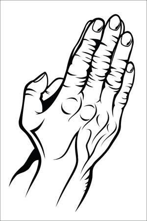 prying: Old prying hands Illustration