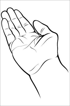 Abra la mano vacía Foto de archivo - 40377681