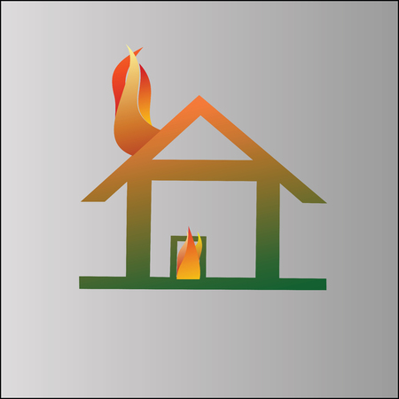 incendiary: Burning house symbol
